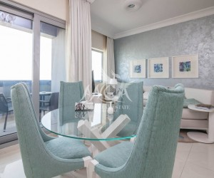 Short Term Monthly Rental - High Floor Fully Furnished in Downtown Dubai